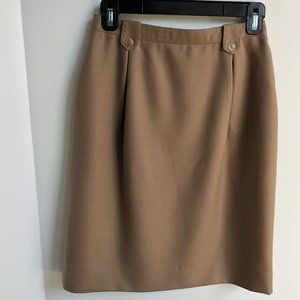 VANUTI Toronto Vtg Lined Skirt Camel Size XS/S